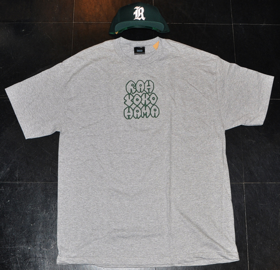 RAH-YOKOHAMA-STREET-GEAR-STYX-THROW-UP-Tee-HGREY-GREEN.jpg