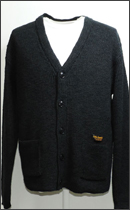 CALEE - COTTON/LINEN KNIT CARDIGAN -Black-