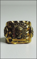 CALEE - MEXICAN RING (Brass) -Gold-