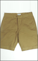 CALEE - USED WASH WEST POINT SLIM CHINO SHORTS -Mustard-