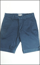CALEE - USED WASH WEST POINT SLIM CHINO SHORTS -Blue-