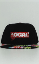 LOCAL BRAND - BOX Snap Back CAP -Black/Aloha Red-