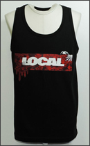 LOCAL BRAND - BOX Tank Top -Black/Red-