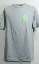 RAH - WAPPEN TEE S/S -H.Grey/Lime-