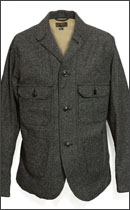 SEVENTY FOUR - HERRING BONE FIELD JKT -Black-