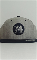 SEVENTY FOUR - BASE BALL CAP (TWO COLOR) -Grey/Navy-