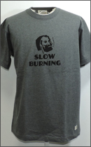 SEVENTY FOUR - SLOW BURNING T SHIRT -Charcoal-