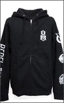 REBEL8 - INFILTRATE / DESTROY BUILD UP ZIP HOODY -Black-