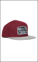 BRIXTON - AXLE -Burgundy/Lt.H.Grey-