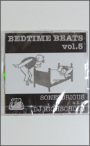 CD - Sonetorious aka DJ Highschool / Bedtime Beats Vol.5