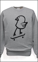 MAD.TK. - killy bird blind crew neck sweat -H.Grey-