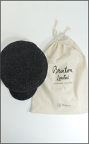 BRIXTON - FIDDLER LTD. SANP CAP (HARRIS TWEED) -Black/Grey-