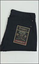 BRIXTON - RESERVE STANDARD FIT CHINO PANT -Navy-