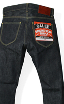 CALEE - FIVE POCKET SLIM DENIM PANT -Rigid Indigo-