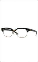 CALEE - SIRMONT BROW GLASSES -Black x Clear-