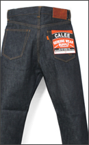 CALEE - FIVE POCKET TAPERD DENIM PANTS -Indigo-