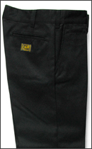CALEE - T/C TWILL CHINO PANTS -Black-