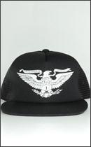 CALEE - HC13 PRINT MESH CAP -Black-