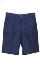 CALEE - JACQUARDE FLOWER PATTERN SHORTS -Navy-