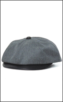 CALEE - T/C TWILL/LEATHER COMBINATION CASQUETTE -Grey-