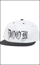 Other Brand - DOOM Snapback Cap -White/Black-