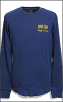 BRIXTON - DRIVEN L/S THERMAL -Navy-