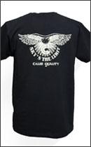 CALEE - POCKET EAGLE T-SHIRT -Black-