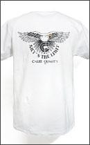 CALEE - POCKET EAGLE T-SHIRT -White-