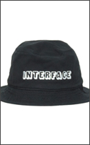 INTERFACE - COTTON BUCKET HAT -Black-