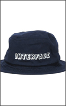 INTERFACE - COTTON BUCKET HAT -Navy-