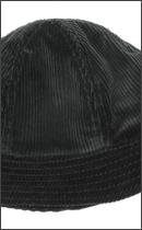RAH - DEVIL CORDUROY SOLID HAT -Black-
