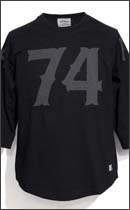 SEVENTY FOUR - 74 RAGLAN 3/4 T SHIRT -Black-