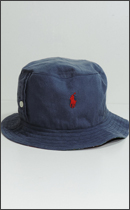 Other Brand - BDshirt Remake REVERSIBLE BUCKET HAT - Navy&Check-