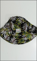 INTERFACE - FLOWER BUCKET HAT -Green/Black-