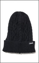 INTERFACE - CABLE KNIT CAP -Black-
