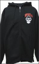 REBEL8 - SMOKED LOC ZIP-UP HOODIE -Black-
