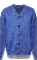 CALEE - MOHAIR CARDIGAN -Blue-