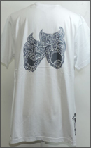 MOZ¥SKEY - MIX TWO MUCH PAIN TWO MUCH GAIN TEE S/S -White-