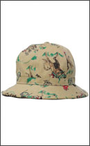 CALEE - TWILL ALLOVER RODEO PATTERN METRO HAT -Beige-
