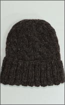 Other Brand - Yak Wool Knit Cap -Natural Brown-