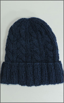 Other Brand - Yak Wool Knit Cap -Natural dyed Indigo-
