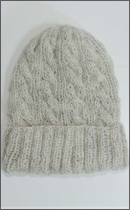 Other Brand - Yak Wool Knit Cap -Natural White-