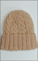 Other Brand - Yak Wool Knit Cap -Natural dyed Pink-