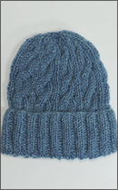 Other Brand - Yak Wool Knit Cap -Natural dyed Sky Blue-
