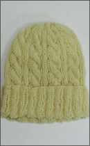 Other Brand - Yak Wool Knit Cap -Natural dyed Yellow-