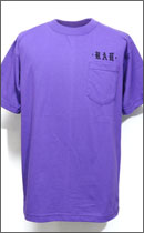 RAH - OLD ENGLISH POCKET TEE S/S -Purple/Black-