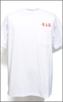 RAH - OLD ENGLISH POCKET TEE S/S -White/Rust-