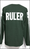 RULER - MARKER LINE LONG TEE -Forest Green-