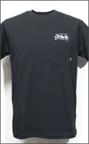 CALEE - PIN SRIPE T-SHIRT -Black-