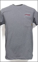 CALEE - PIN SRIPE T-SHIRT -Charcoal-